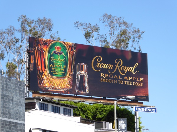 Crown Royal Regal Apple billboard