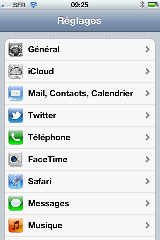 ajouter compte mail ipad