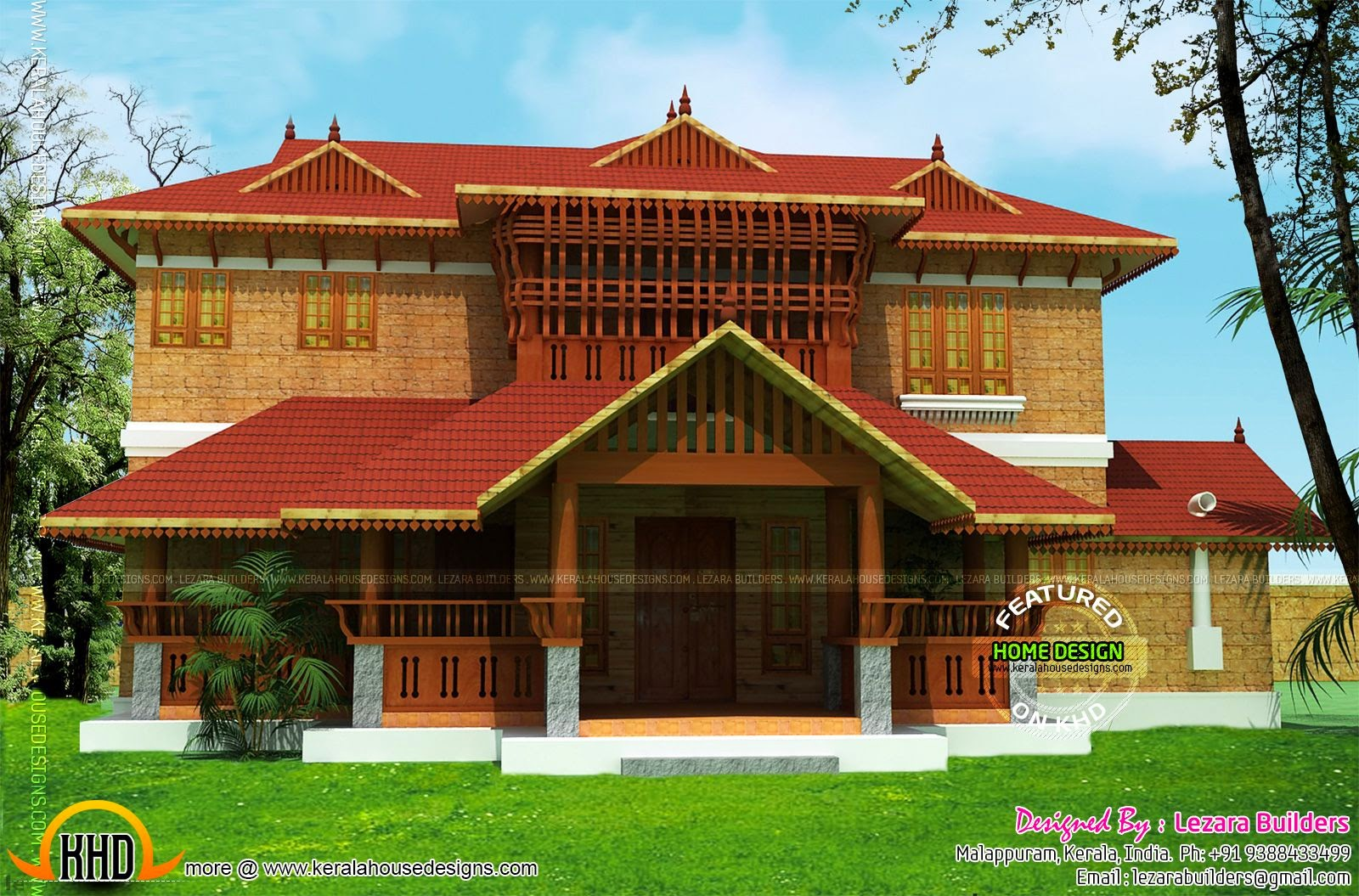 Kerala traditional home design kerala home design and for Small traditional home plans