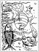 gambar ikan laut untuk diwarnai