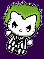 Hello Kitty in Beetlejuice costume