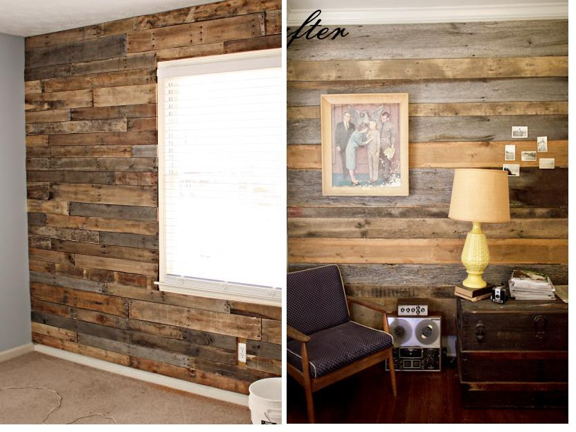 barn wood walls inside house