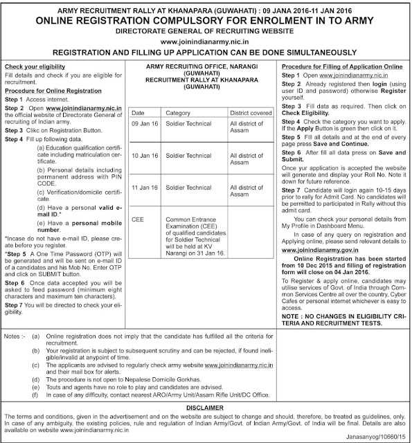 Bank Jobs In India Junior Assistant Posts In National Co: Online Government Jobs: Advertisement For The Indian Army