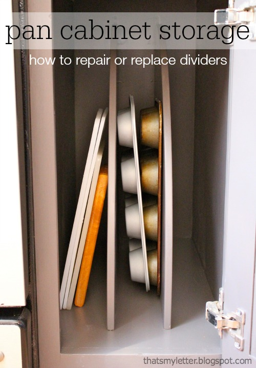 That 39 S My Letter How To Repair Or Install Pan Cabinet Storage Dividers