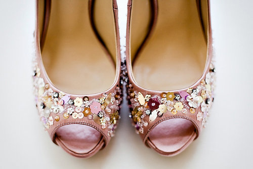 Wedding Shoes Sparkly Pink