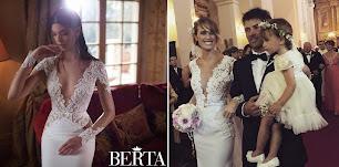 Chechu Bonelli, se inspiró en Berta Bridal al diseñar su vestido con Natalia Antolín ?