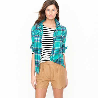 Lezsquire: Pick of the Day: J.Crew Boy Shirt in Barbados Plaid