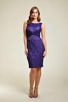 Rochie rafinata, marca Dynasty, de culoare violet ( )