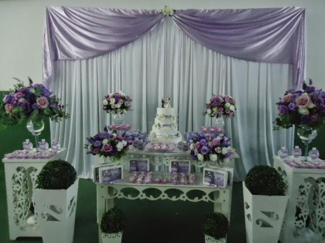 Dani Festas Fantasy  Decoração Casamento lilás e branco