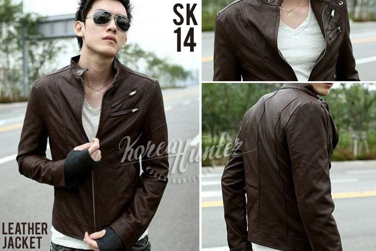 KOREA-HUNTER.com jual murah Jaket Kulit Korea Cokelat | kaos crows zero tfoa | kemeja national geographic | tas denim korean style blazer