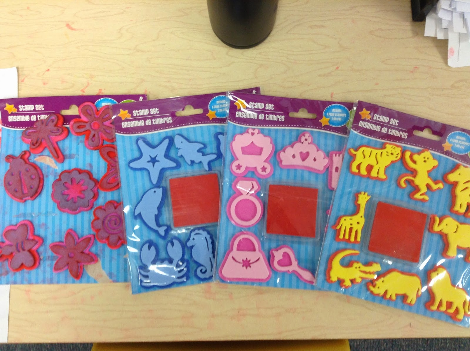 Dr. Clements\' Kindergarten : Writing Center using Stamps for ...