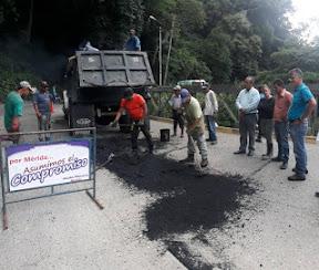 Alcaldía de Mérida inició operativo de bacheo en El Chama