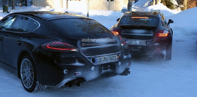 Spyshots: 2014 Porsche Panamera Winter Testing, Sports New Lights