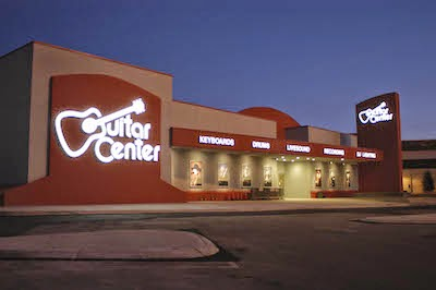 Guitar Center front and dark image
