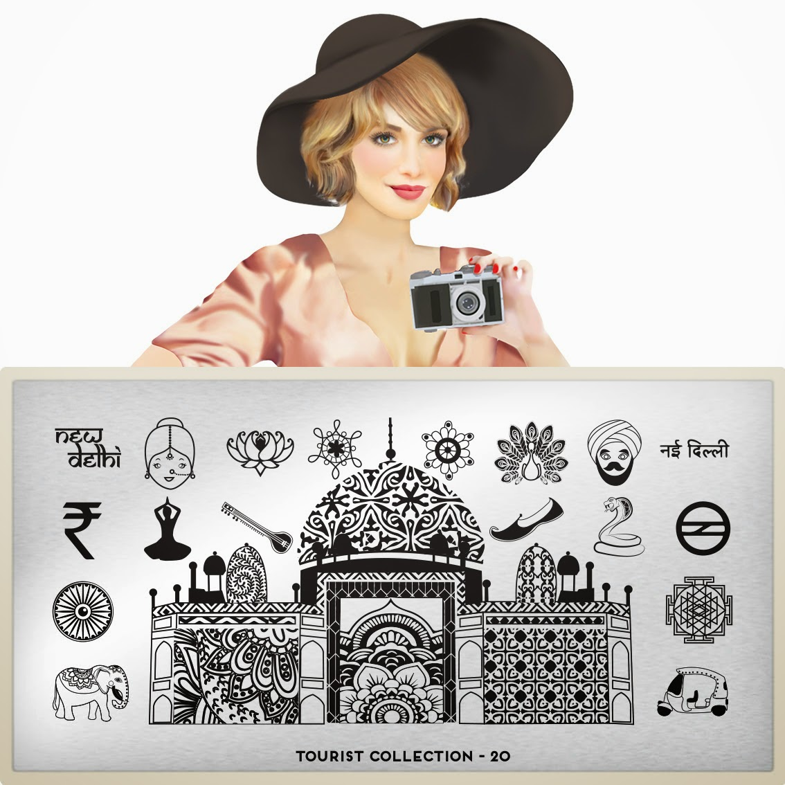 Lacquer Lockdown - MoYou London, Tourist Collection, MoYou London Toursit collectin.  Tourist 18, Tourist 19, Tourist 20, Tourist 21, new nail art plates 2014, new nail art image plates 2014, new nail art plates 2014, paris nail art, france nail art, delhi nail art, middle eastern nail art, austrailia nail art, syndey nail art, cute nail art ideas, diy nail art, nail art stamping blog