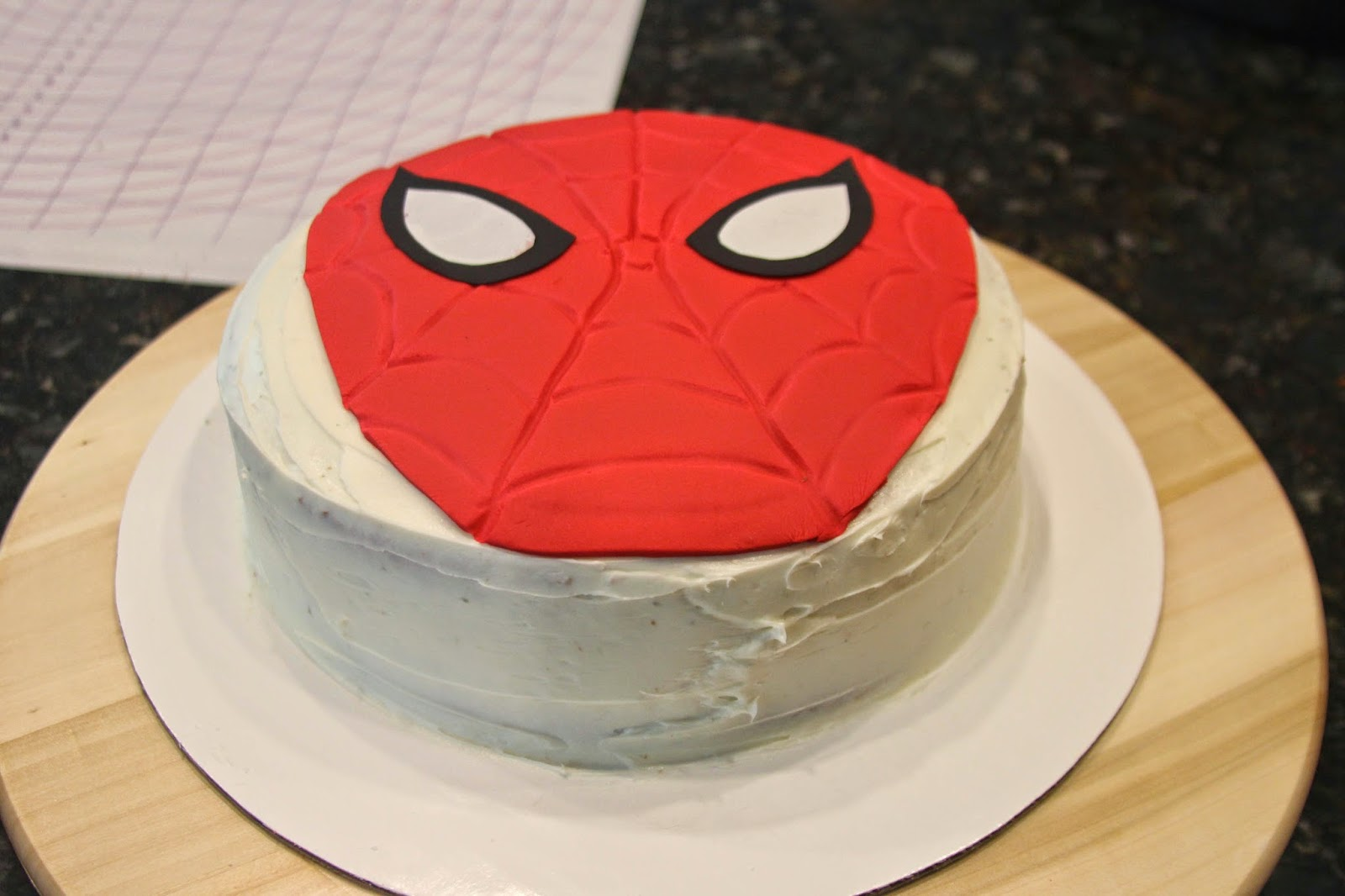 How To Make A Spiderman Birthday Cake with Fondant