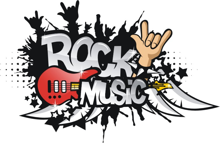 Rock Music vector | Corel Draw Tutorial and Free Vectors