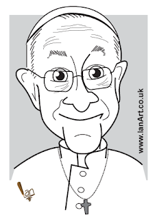 Pope Francis caricature