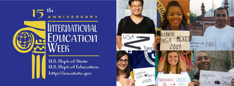 logo header for the 15th Anniversary of International Education Week