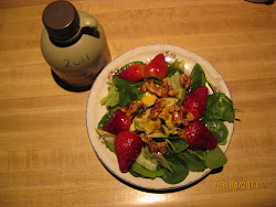 Mixed Greens and Strawberry Salad with Maple-Walnut Vinaigrette