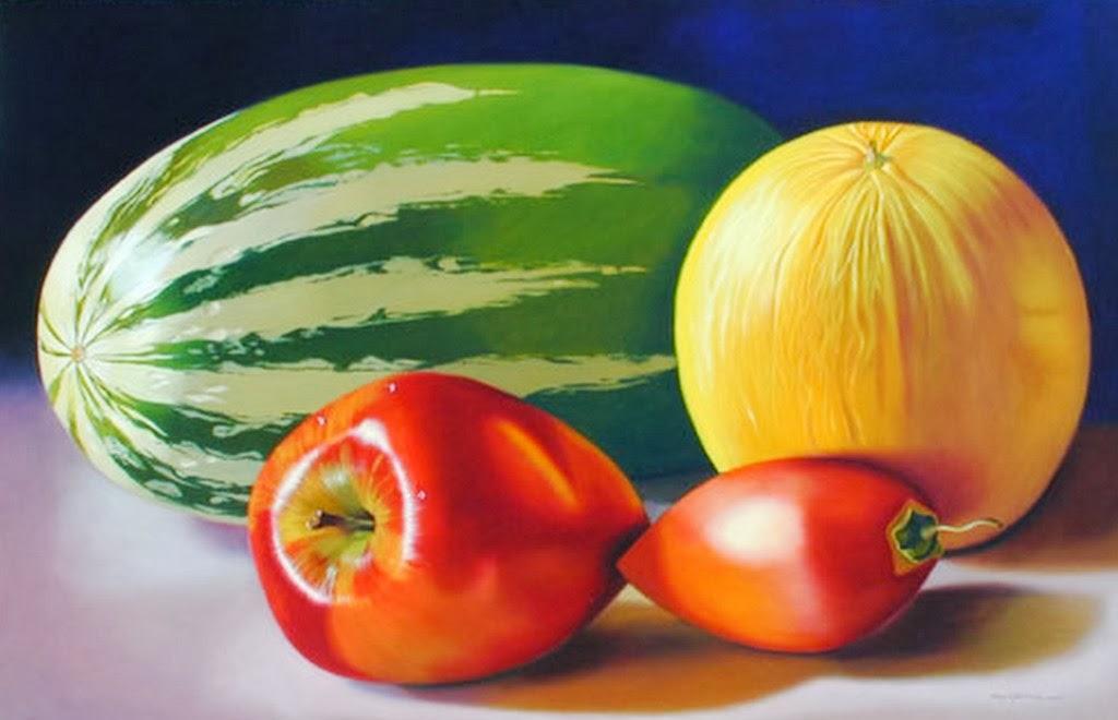 Cuadros modernos pinturas y dibujos bodegon de frutas - Cuadros bodegones modernos ...