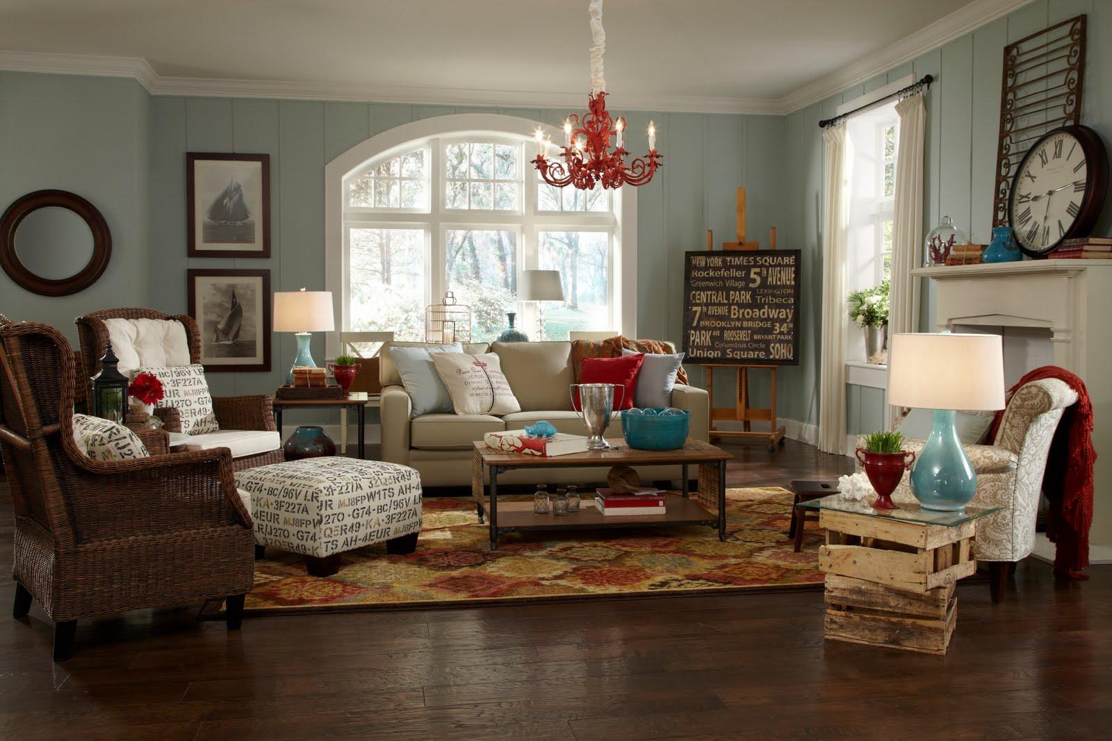 Blog achados de decora o setembro 2011 for Cottage living room colour schemes