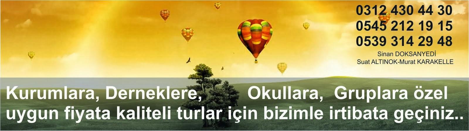 Kurban Bayramı Turları 2014, Ankara Çıkışlı Bayram Turları