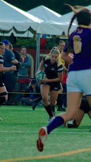 Rugby 'war goddess' Georgia Page plays
