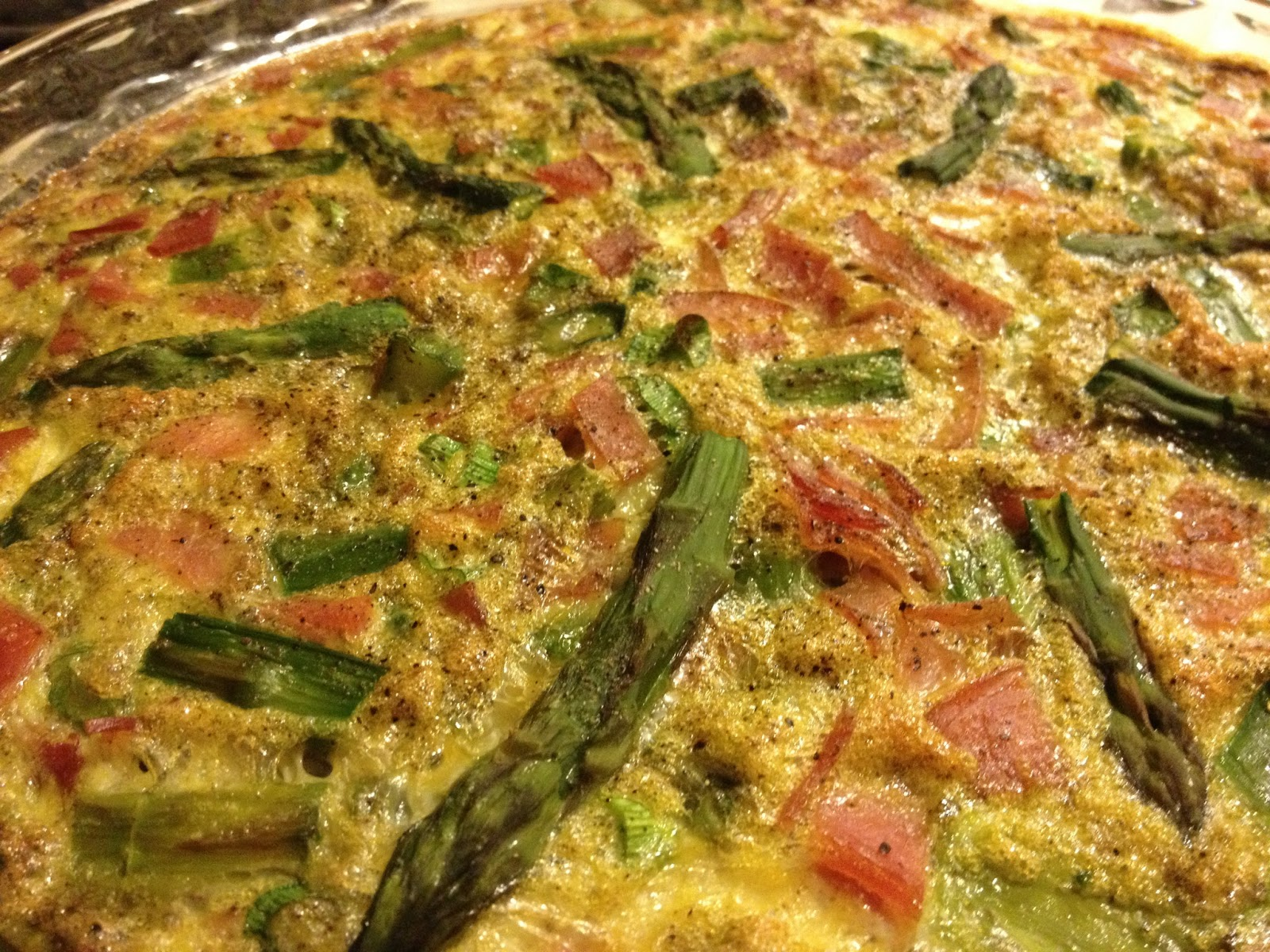 Chow Bella: Asparagus and Ham Crustless Quiche