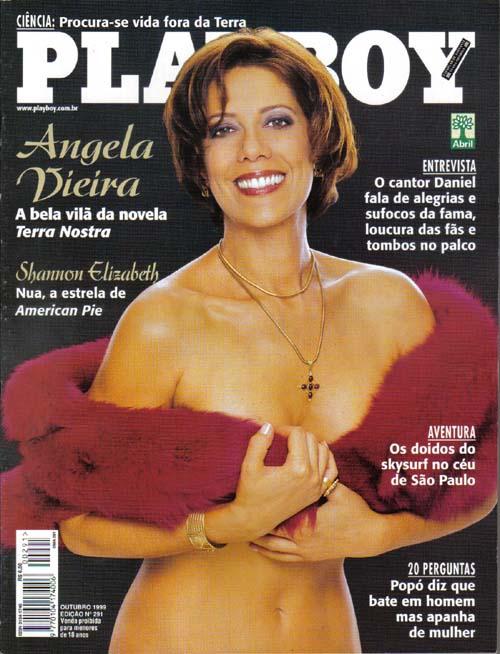 Fotos Da Musa Das Novelas Angela Vieira Capa Playboy De Outubro