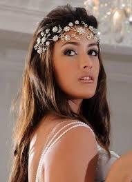Coronas tiaras y diademas para novias e invitadas Glamour - Peinados Con Tiaras Para Bodas