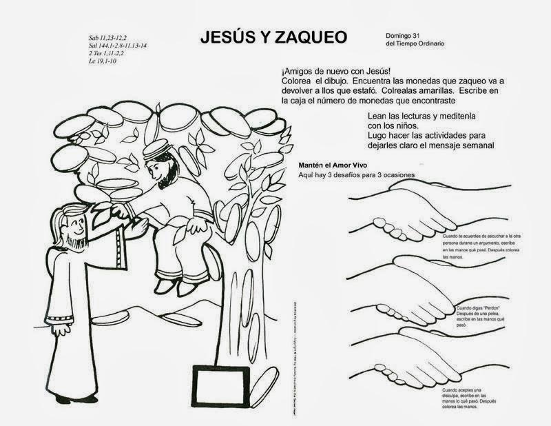 MATERIALES DE RELIGIÓN CATÓLICA: ZAQUEO