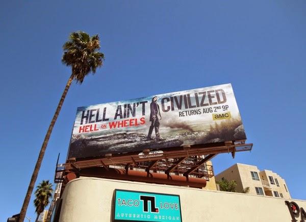 Hell on Wheels series 4 billboard