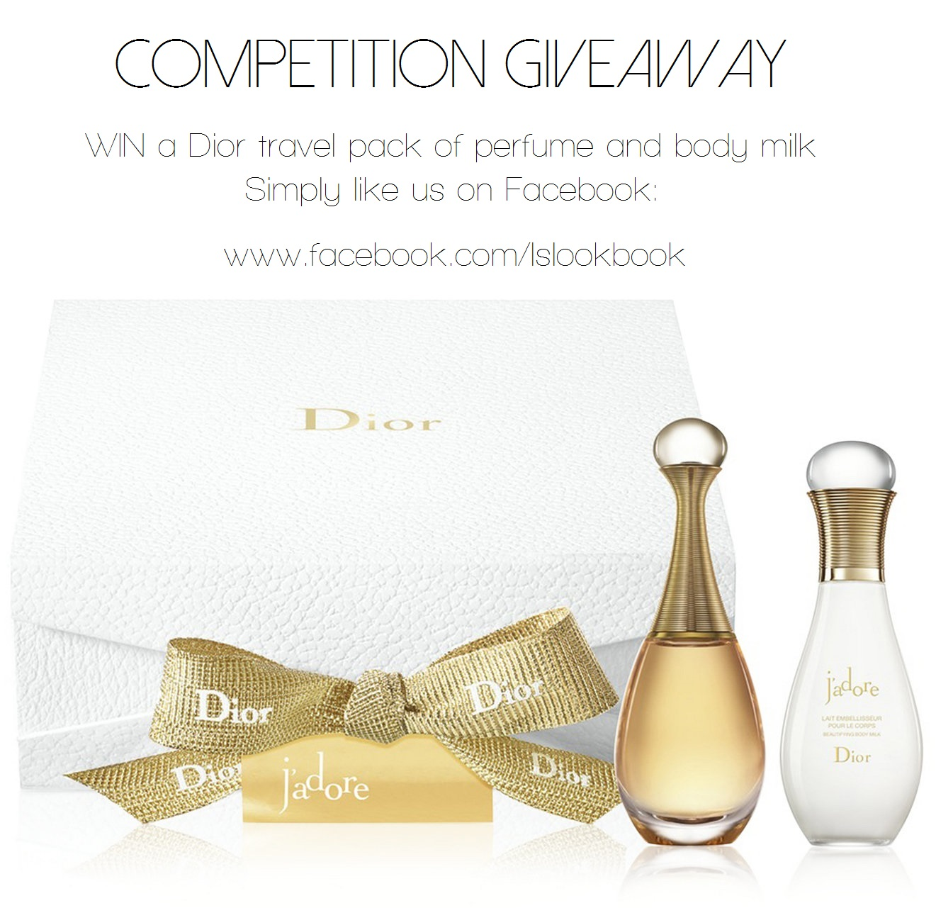 Dior Travel Gift Pack Perfume Beautifying Body Milk Free Giveaway Competition Contest