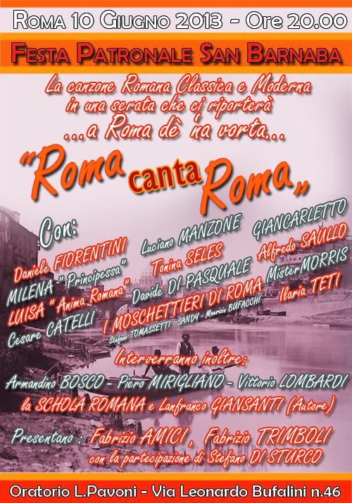 Roma canta roma appuntamenti con la canzone romana for Principessa romana