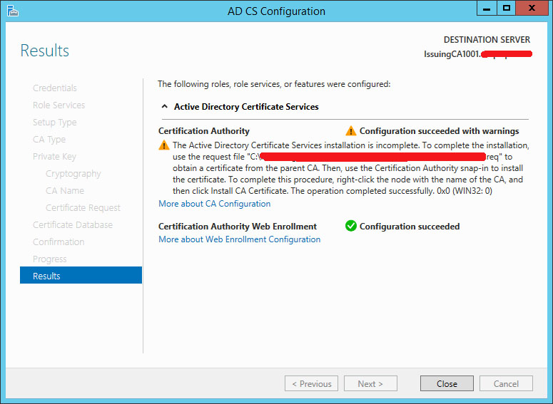 Part 2 deploying enterprise pki on windows server 2012 r2 with phase 2 trust subordinate ca by root ca yadclub Choice Image