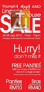 Triumph Sloggi AMO Lingerie Warehouse Sale 2013