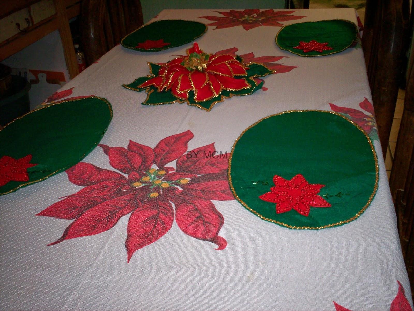 Hacer manteles individuales aprender manualidades es - Manteles navidenos ...