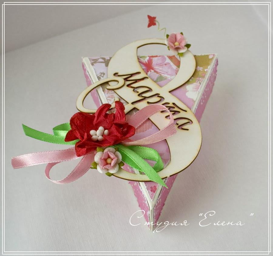 Коробочки для сладкого подарка на 8 марта - www.oformim-vse.by
