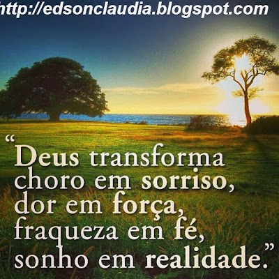mensagem de deus para amigo deus transforma