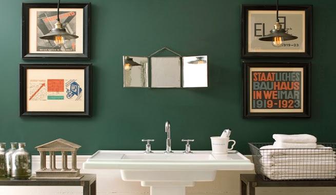 Baño Blanco De Limon:Baños verdes – Colores en Casa