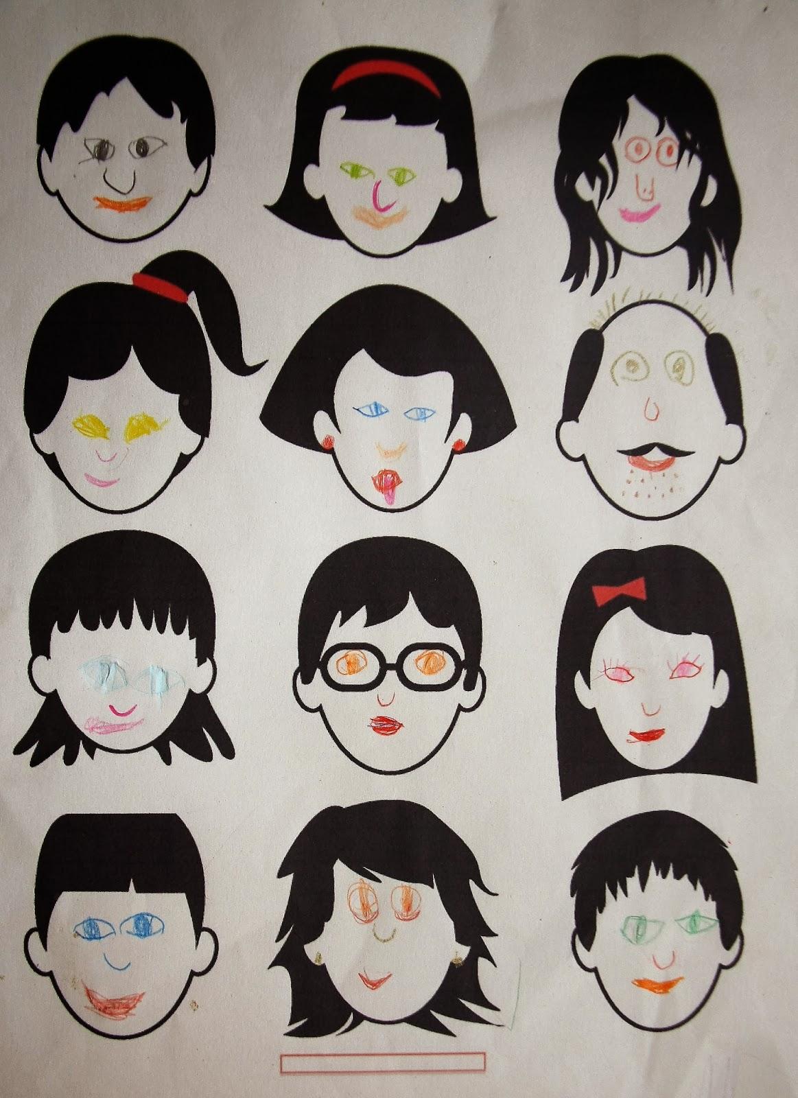 Дорисуй прическу картинки для детей