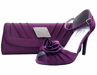 Cassie Purple Ruffle Bag