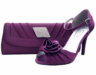 Cassie Purple Ruffle Bag