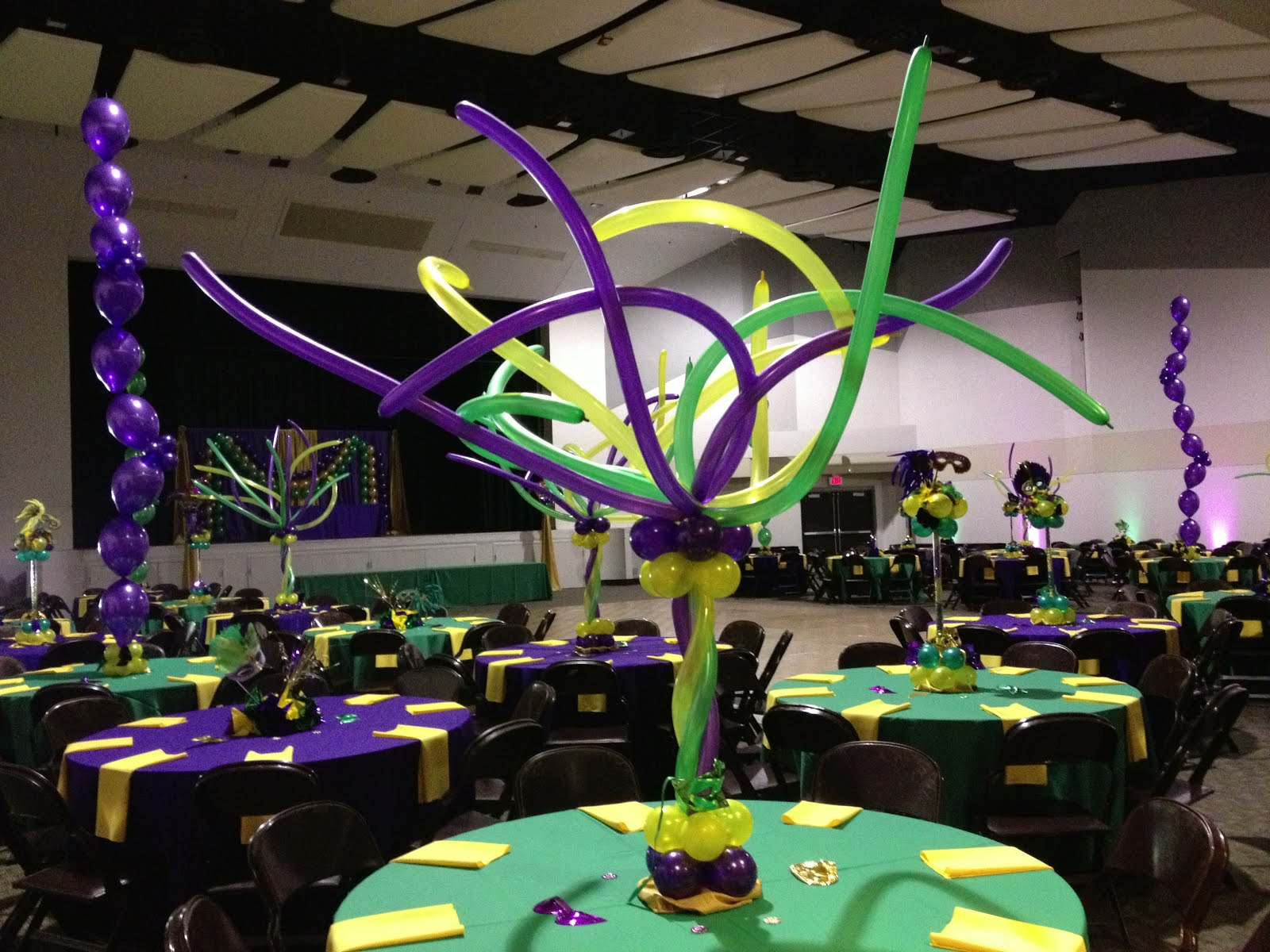 Party People Event Decorating pany Mardi Gras Awards Banquet