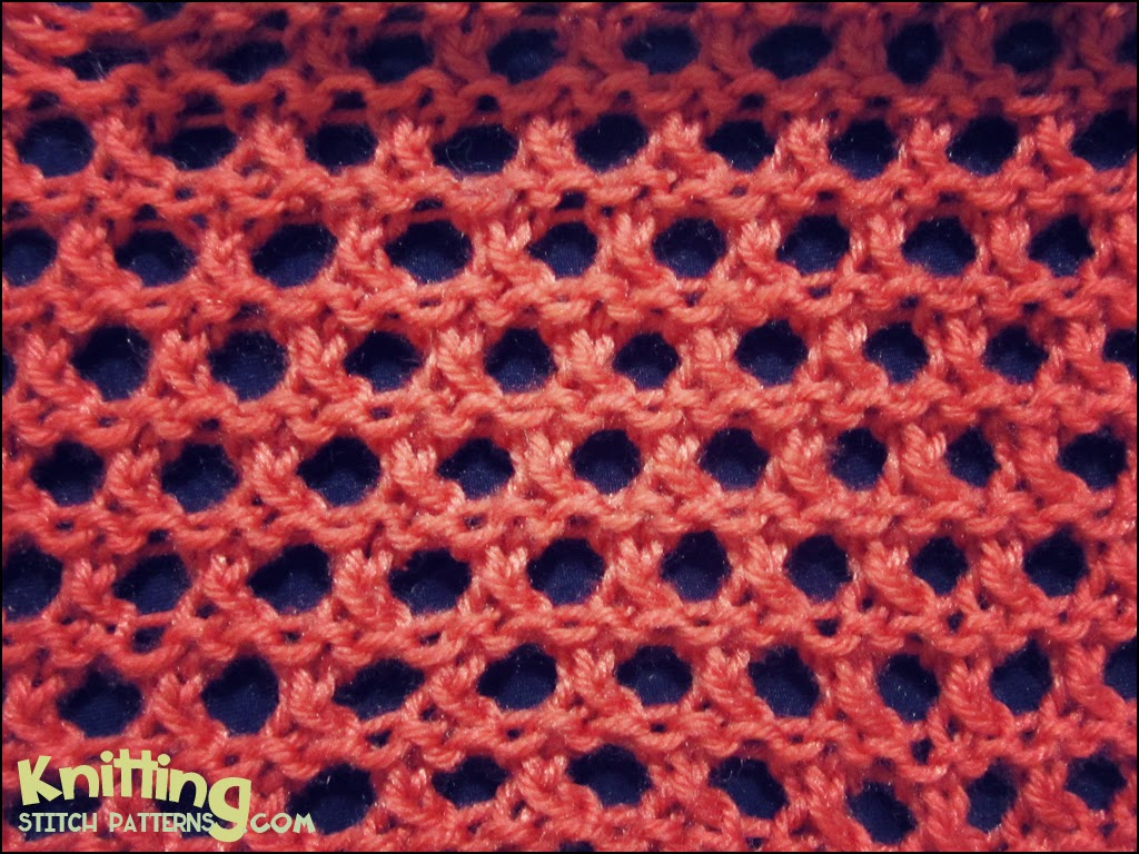 Open Honeycomb | Knitting Stitch Patterns