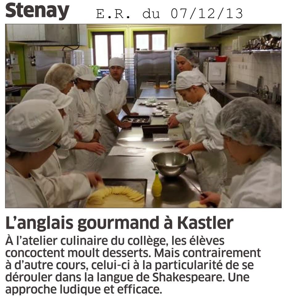 Cit u00e9 scolaire Alfred KASTLER   STENAY  L u0026#39;anglais gourmand du coll u00e8ge Alfred Kastler