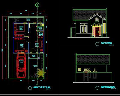 design dan denah Rumah minimalis