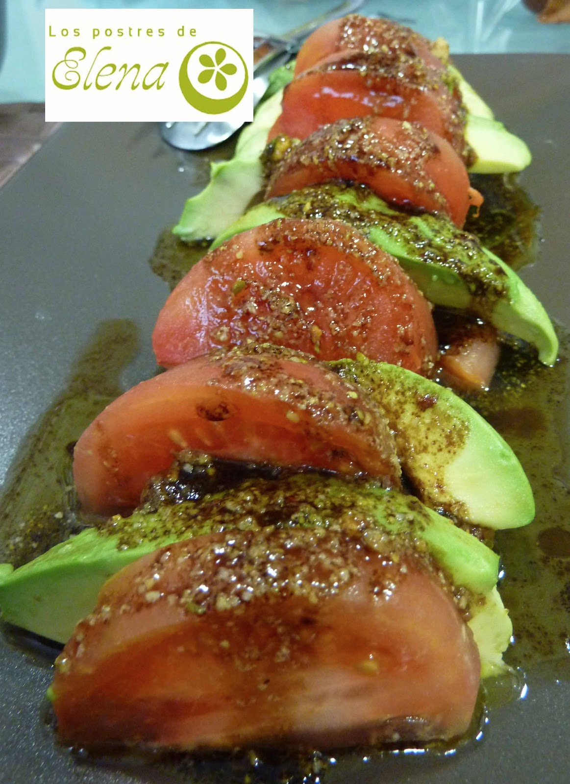 Los postres de elena ensalada de salm n y aguacate con vinagreta de frutos secos - Ensalada con salmon y aguacate ...