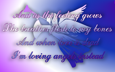 Angels - Robbie Williams Song Lyric Quote in Text Image